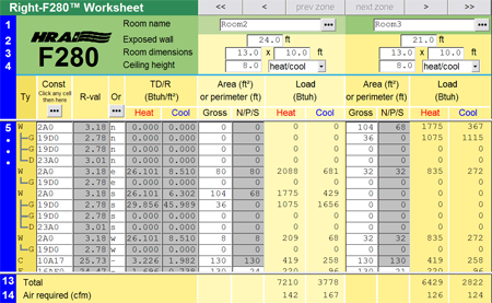 Right-F280 HRAI Load Worksheet